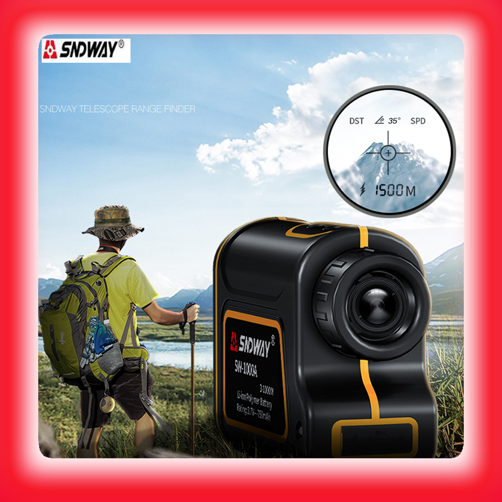 SNDWAY telescope laser range finder 600m 1000m 1500m monocular metro laser distance meter for hunting digital tape Measure laser