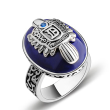 100% Real 925 Sterling Silver The Vampire Diaries Damon Salvatore Stefan Retro Rings Custom For Women Men Valentine's Day Gift