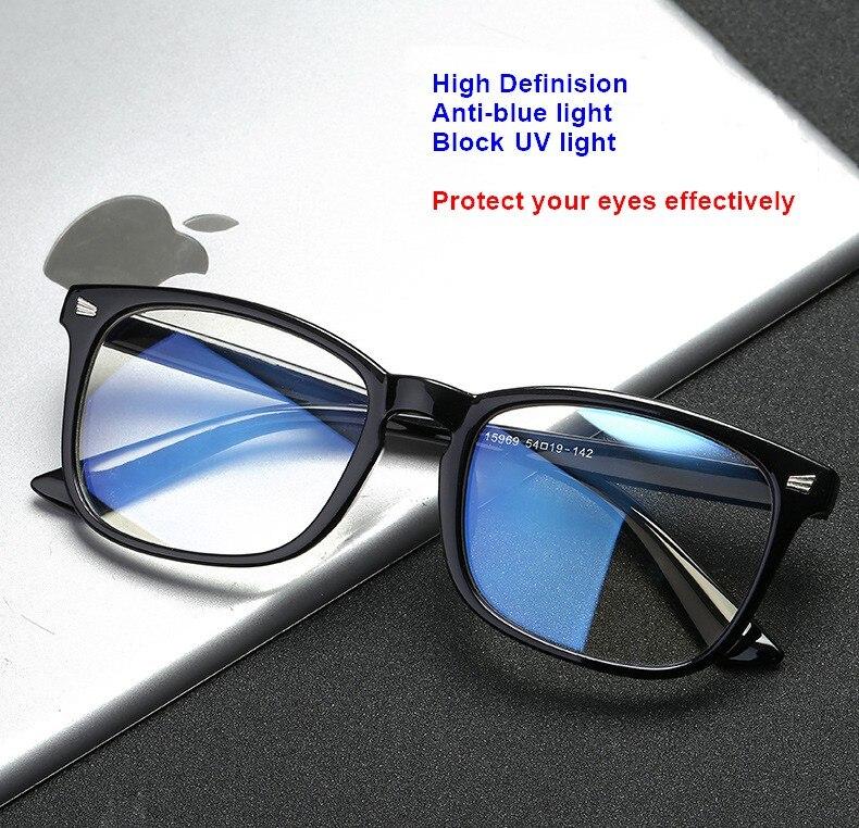 Yorkia Light-Block Glasses Eyes-Protection Blue Fashion Retro Unisex Men Women