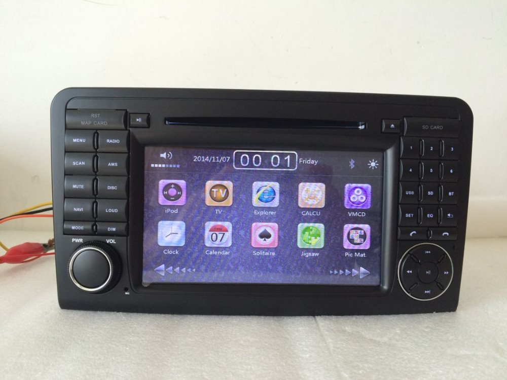 цена на 7 2 din car dvd player for FOR Mercedes Benz GL ML CLASS W164 ML350 ML500 X164 GL320 Bluetooth/RDS/Radio/SWC/USB/SD/Canbus