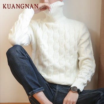 Knitted Turtleneck Men Sweater