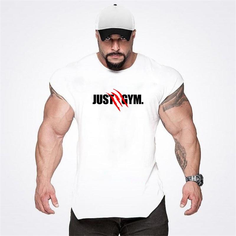 Muscleguys Brand Gyms Clothing Fitness Men Tank Top Canotta Bodybuilding Stringer Tanktop Workout Singlet Sleeveless Shirt