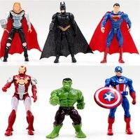 Groot 6Pcs superhero Avengers Iron Man Hulk Captain America Superman Batman Building model kits Legoings gift children's toys