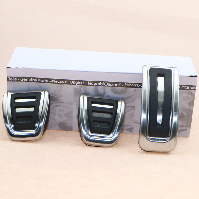 3 Pcs VW OEM Stainless Steel Manual Accelerator Brake Clutch Pedals Cover For VW Golf MK4 Octavia 5Q1 721 647A