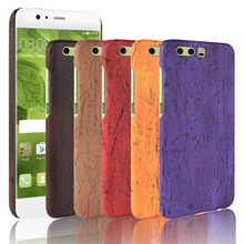 For Huawei P10 P 10 Case Hard PC+PU Leather Retro wood grain Phone Cover Luxury Wood 5.1