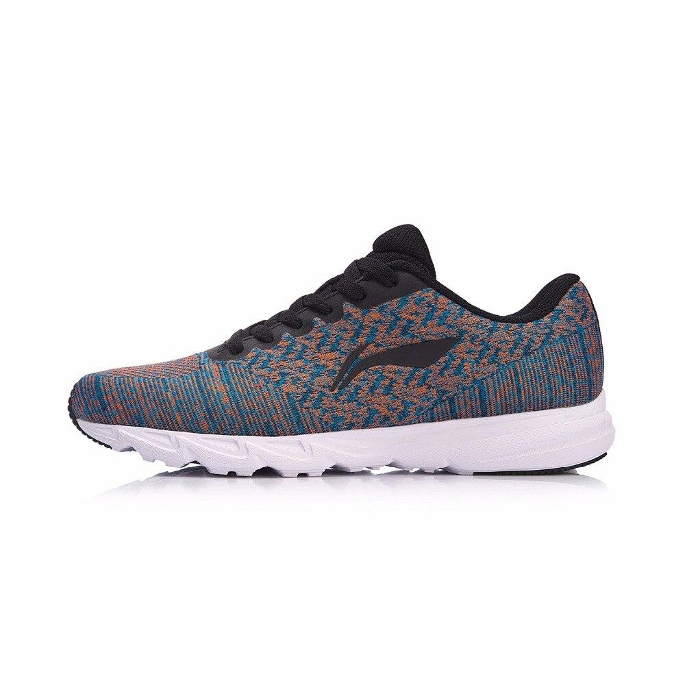 Li-ning hommes EZ course coussin chaussures de course poids léger baskets chaussures portables Anti-glissant doublure chaussures de Sport ARBN019 XYP637 - 4