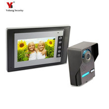 Yobang Security 7″ Doorbell Camera Video Intercom with Monitor Home Wired Visual Intercom Entry Access System For House Villa