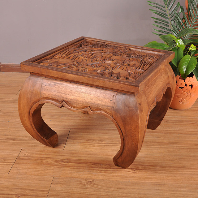 Thai Crafts Southeast Asian Wood Sculpture Carved Furniture Tables And Chairs Coffee Table Tea
