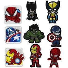 New Arrival Character Anime Animanl Batman Patches Fabric Sticker for Clothes Badge Embroidered Appliques DIY Accessories