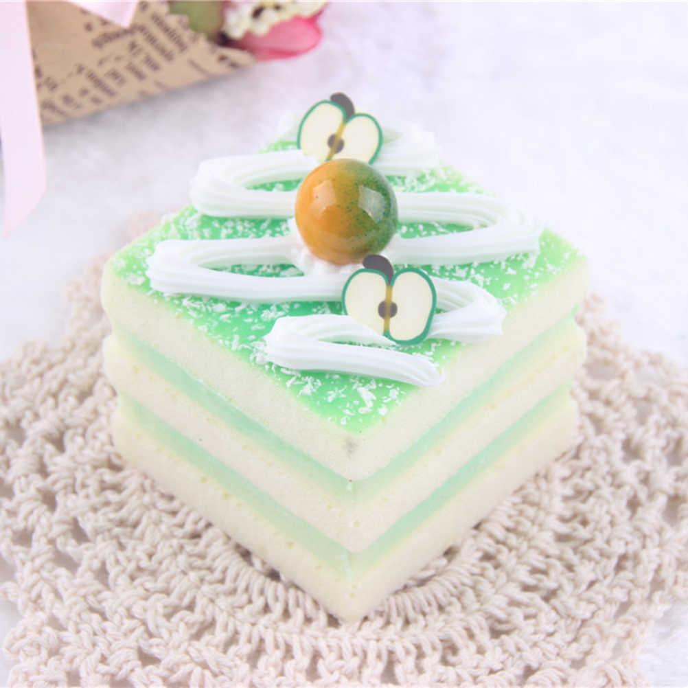 MYPANDA искусственное пирожное моделирование Искусственные продукты крем небольшой треугольной кухонные игрушки магнит на холодильник в виде торта фотографии реквизит талисманы