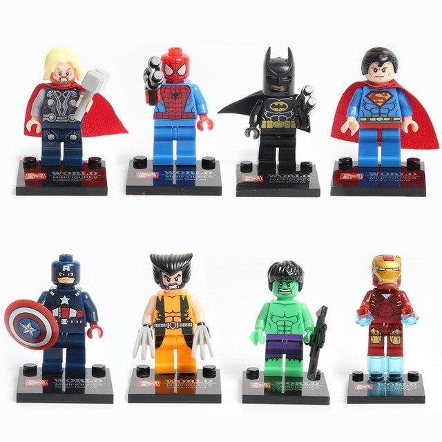 Infinito da marvel Figura de Ação de Guerra Em Blocos de Construção de Blocos Mini Figura Batman homem De Ferro homem Aranha Capitão América Figuras Brinquedos