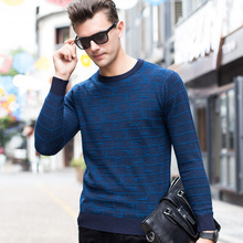 Autumn And Winter Factory Direct Sale Men's Sweaters Business Products Pure Wool O-neck Fashion Sweater Men's Clothing