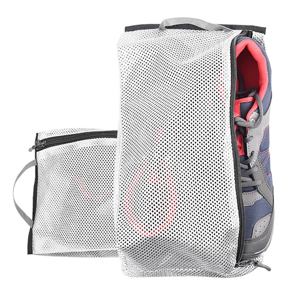5pcs Men And Women Outdoor Travel Shoes Bag Breathable Mesh Clothing Footwear Storage Bag Moisture-proof Dehumidifying