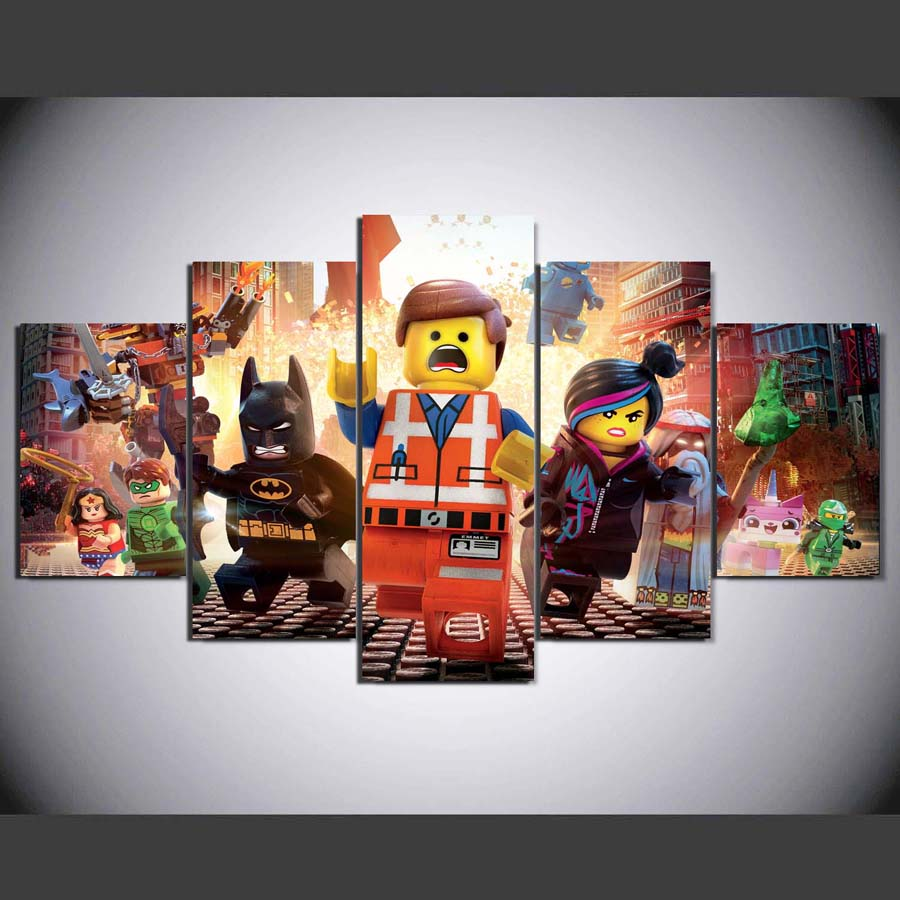 popular lego wall prints-buy cheap lego wall prints lots from