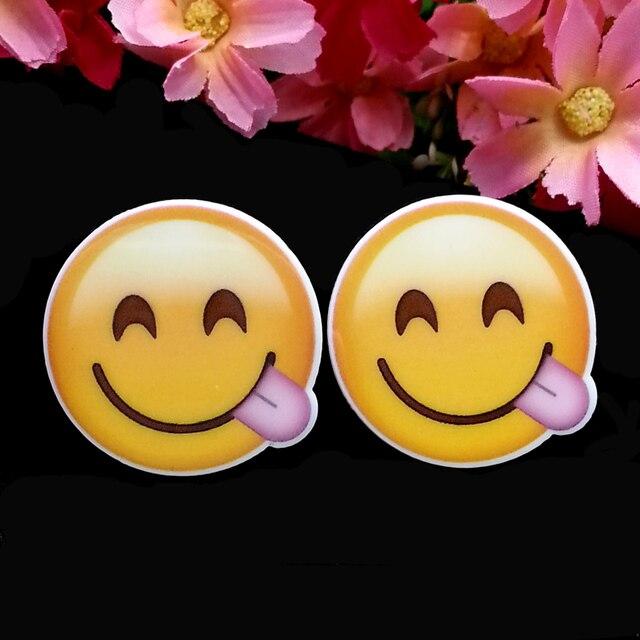 137d03251 40pcs/Lot Cute Round Emoji Naught Planar Resin Cabochon Flatback  Scrapbooking Flat Back Hair Bow