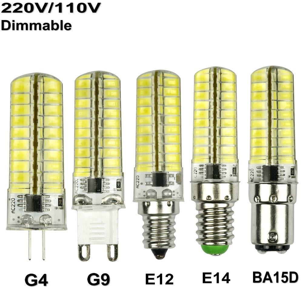 High Lumen Silicone Mini G4 G9 E14 E12 Ba15d Led Bulb Smd