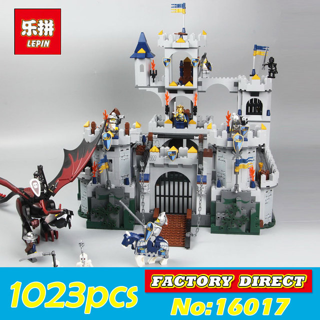 Lepin 16017 Kings Castle Siege Set Genuine Castle Series Children