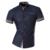 Linhas de Ornamentação Geométrica dos homens 2017 Moda Verão Ocasional de Manga Curta Slim Fit Masculino Simples cores Camisa Z026