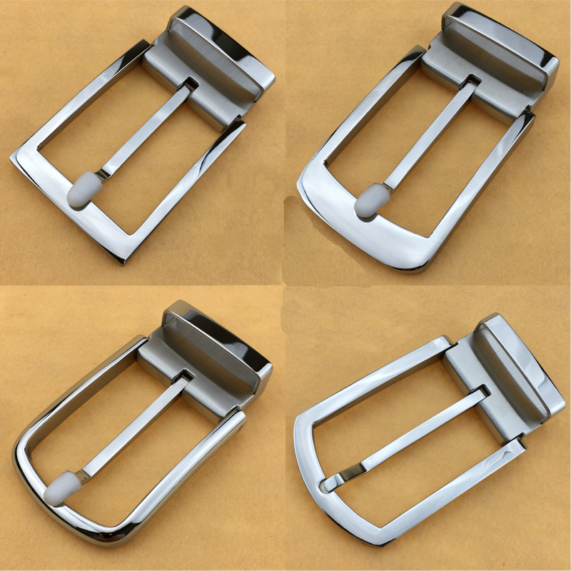 Deepeel 35mm Fashion Belt Buckle Men Stainless Steel Metal Pin Buckle For Belt 33-34mm DIY Hebillas Para Cinturones Hombre KY955