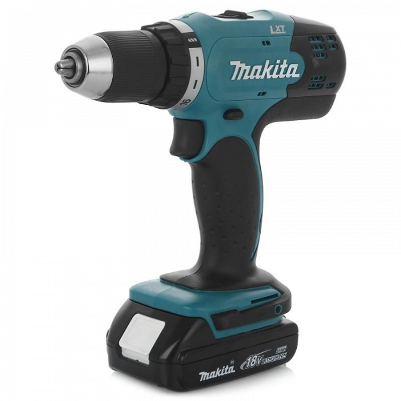 Drill-screwdriver rechargeable Makita DDF453SYE (Li-ion battery, light, reverse, speed)