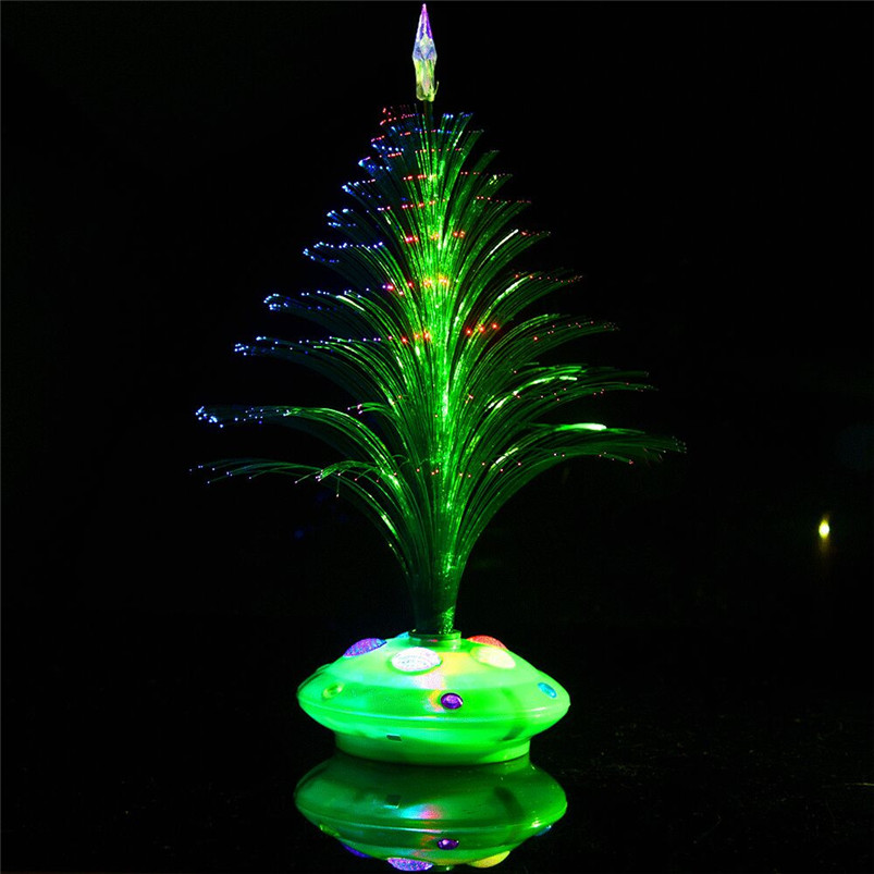 New LED Colorful Changing Mini Christmas Tree Decoration Table Party Charm Desk Decorations Gift for Home decor #4o26#f (16)