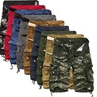 Мужские шорты-карго, крутые камуфляжные летние хлопковые повседневные шорты, удобная брендовая одежда, камуфляжные мужские шорты-Карго