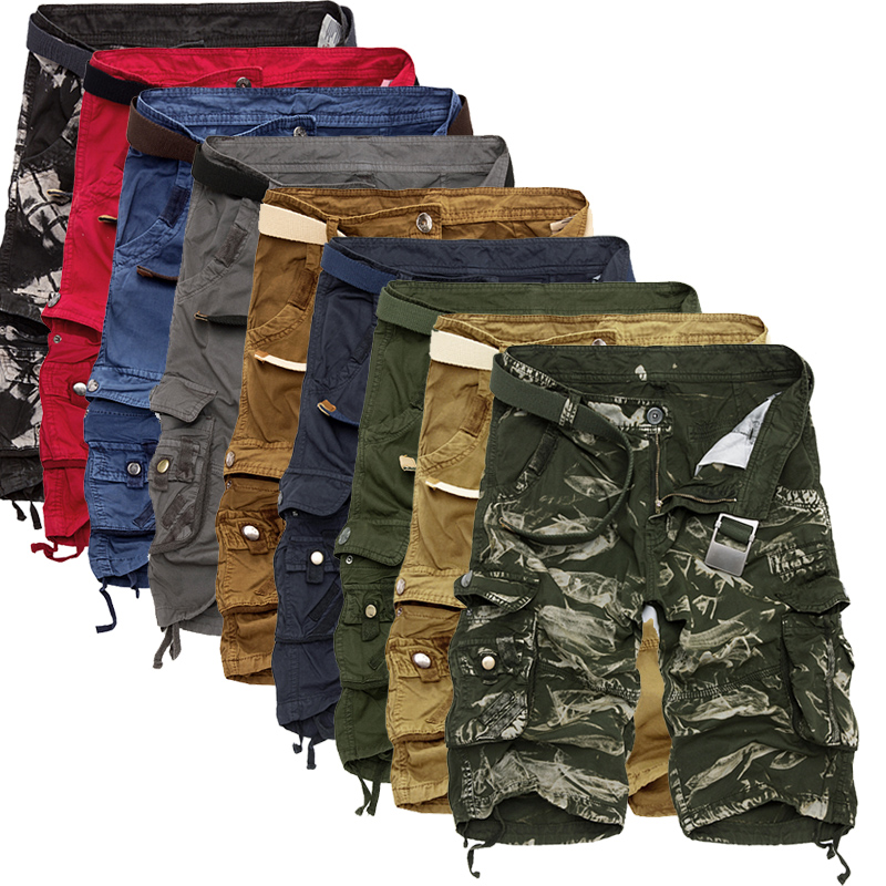 Cargo shorts Uomini Camouflage Fresco di Estate di Vendita Calda Del Cotone casual Degli Uomini Pantaloni di Scarsità di Abbigliamento di Marca Confortevole Camo Degli Uomini Cargo shorts