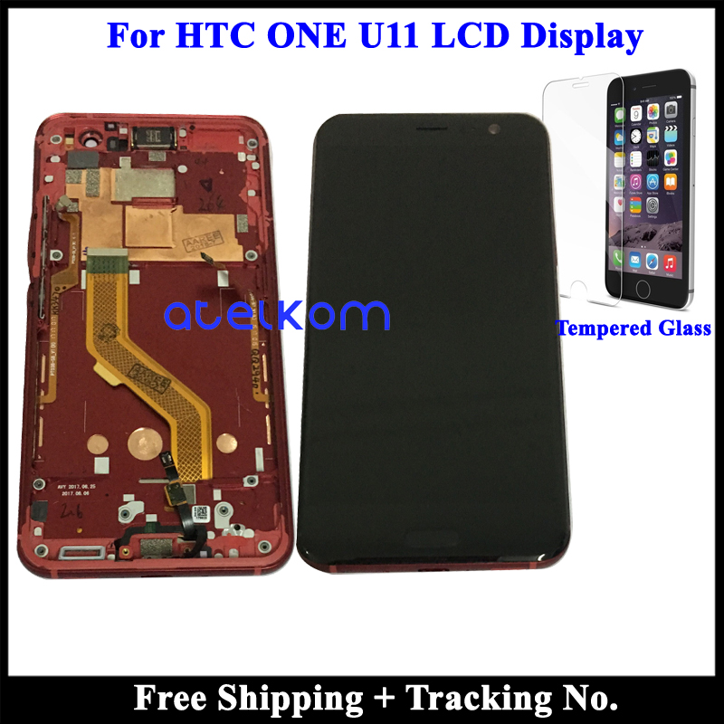 Tested Super AMOLED LCD For HTC U11 LCD U11 LCD Display For HTC U 3w U