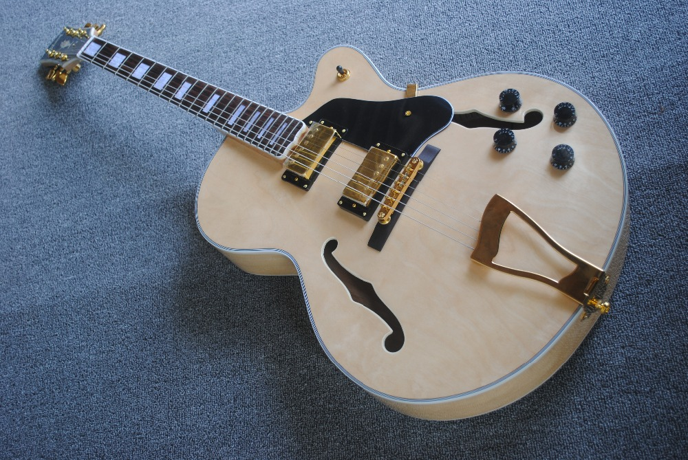China high quality OEM store L5 electric hollow jazz guitars are drawing board, electric guitar high quality custom shop lp jazz hollow body electric guitar vibrato system rosewood fingerboard mahogany body guitar