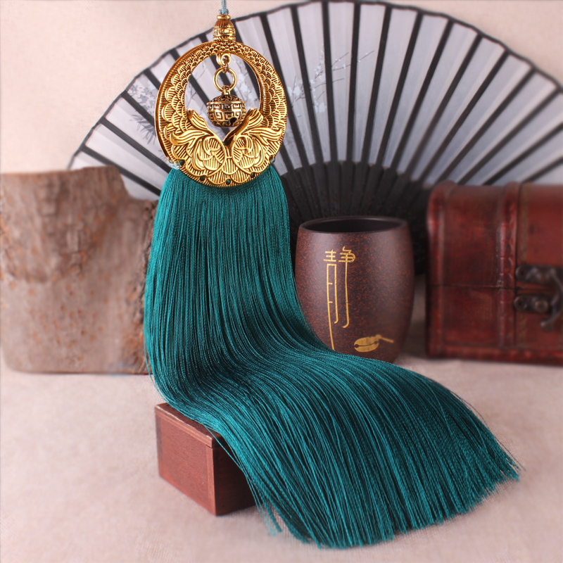 25cm Retro Bronze Silk Tassels Diy For Tassels Earring Pendant Long Fringed Ribbon Knot Satin Tassel Trim Jewelry Accessories цена 2017