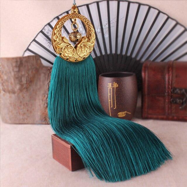 Incroyable 25cm Retro Bronze Silk Tassels Diy For Tassels Earring Pendant Long Fringed  Ribbon Knot Satin Tassel