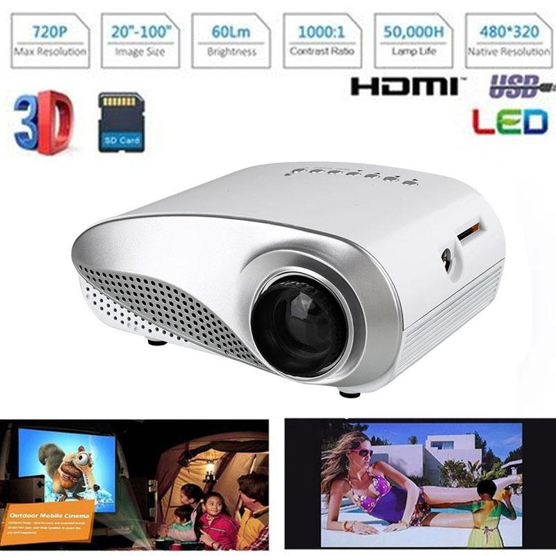 New Portable LED Projector Mini Projectors USB Multimedia Player Projectors For Home Theater Cinema Professional Home Video Gift mini portable multimedia player dvd player home theater projector led proyector