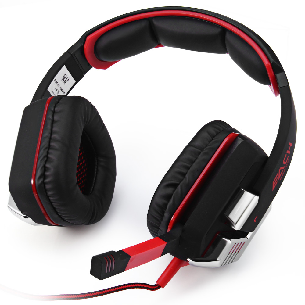 ФОТО Wired Gamer Headset EACH G8200 7.1 Virtual Surround Sound Gaming USB Headphone with Microphone Glowing Gaming Headphone Hot