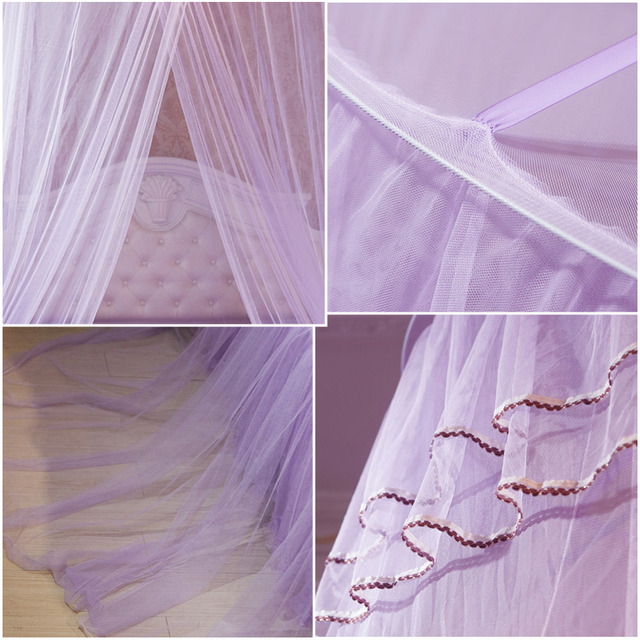 Kid Princess Crib Netting Canopy Bed Curtain Round Dome Hanging Mosquito Net Curtain Play Tent Bedding for Baby Kids Playing Hom