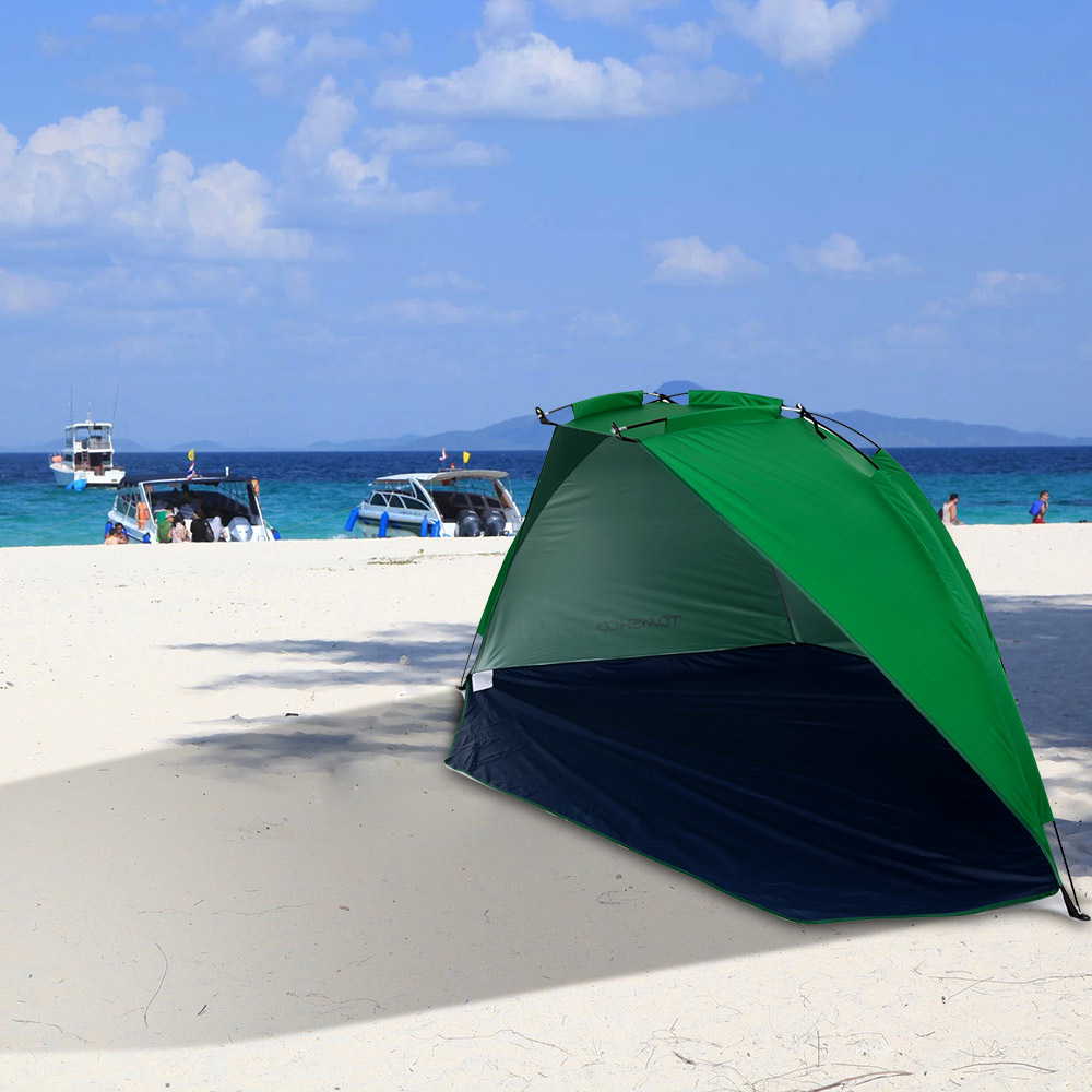 Portable Pop Up Beach Tent : Tomshoo outdoor beach tent summer uv protection portable
