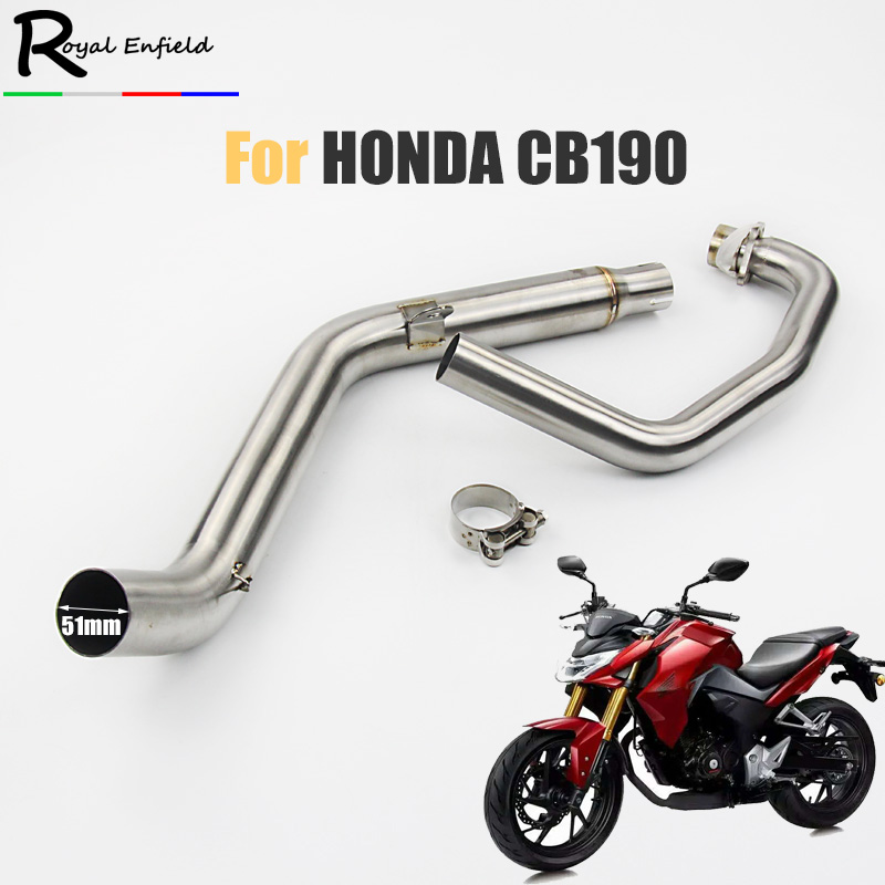 For Honda CB190 CB190R Motorcycle exhaust muffler link pipe for honda cb190 exhaust slip-on front system коляска прогулочная gb beli air 4 capri blue