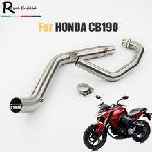 Para honda cb190 cb190r silenciador do escape da motocicleta tubo de ligação para honda cb190 escape deslizamento no sistema frontal