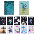 Fashion Stand PU Leather Case For Samsung Galaxy Tab A 9.7 inch SM T550 T551 T555 Beautiful Painted tablet Shell Cover #R