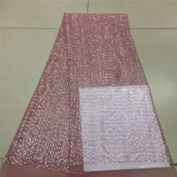 High End French Lace fabric with Rhinestones Diamond African Lace with Beads Pearls Sequins for Embroidery Flower Dress RF350