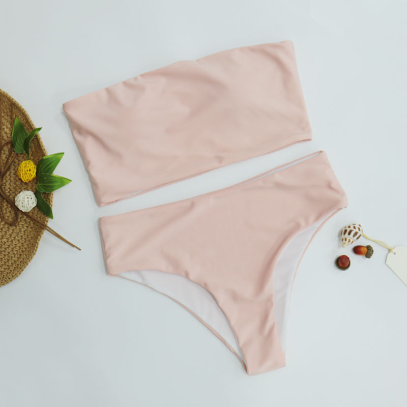 HTB1vLC.djfguuRjSspaq6yXVXXa4 High Leg Bandeau bikini set Swimwear female two pieces swimsuit High Waist Bikini Women Bathing Suit biquini