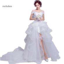 63c851876a Wedding Gown Short Front Long Back Promotion-Shop for Promotional ...