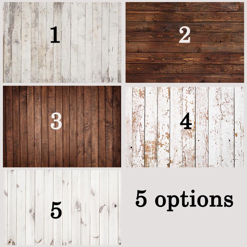 Wood Floor Vinyl Photography Backdrops Baby Newborn Small Size Photo Booth Backgrounds for Photo Studio Photographic r 2