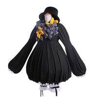 [STOCK] 2018 Hot Anime Fate/Grand order Abigail Williams Cosplay Costume Navy Dress Gown For Women Halloween Free Shipping New.