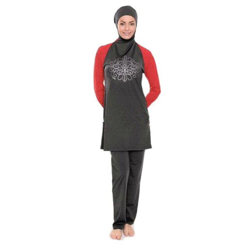 ed5216435cf modest muslim women swimwear hijab swimsuit for islamic women Conserved  bathing suit plus size baju renang muslim-in Muslim Swimwear from Sports ...