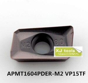 Image 2 - 50 pcs APMT1604PDER H2 vp15tf/APMT1604PDER H2 vp15tf 카바이드 밀링 인서트, 페이스 밀 bap400r 시리즈 선반 공구에 적합