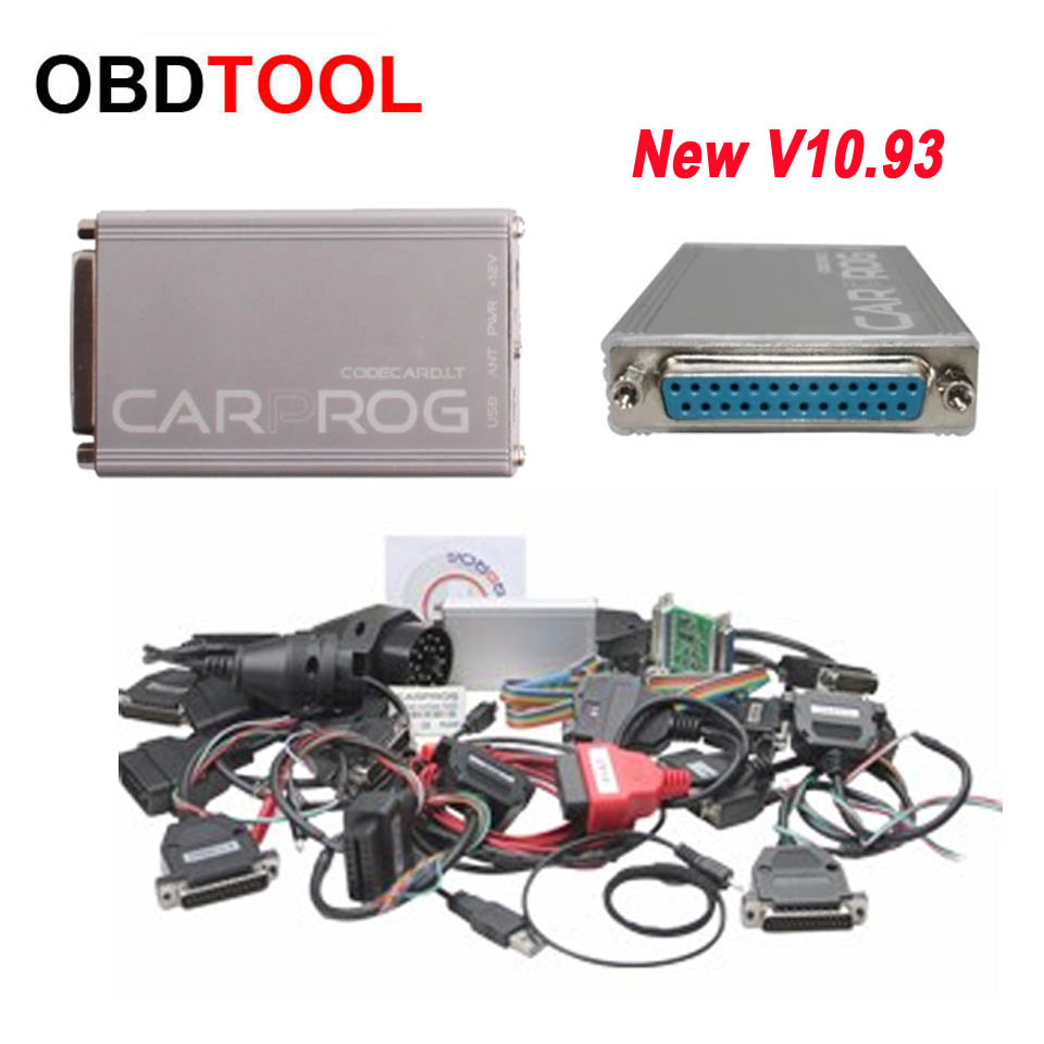 2018 New V10.93 CARPROG FULL Set with all 21 items Adapters Car-Prog ECU chip tuning For Airbag Reset Car Detector Tool Car prog