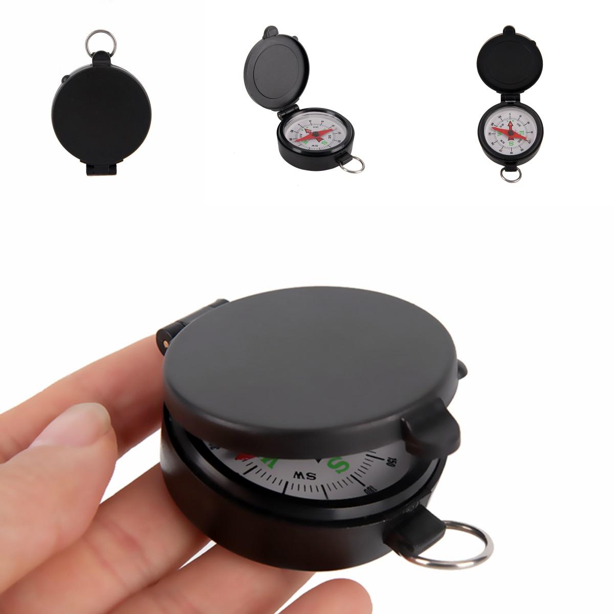 Мини Компас портативный складной объектив Военный компас черный для походов на открытом воздухе кемпинга охоты