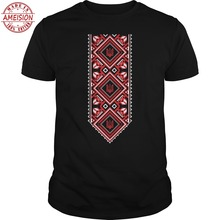 New fashion brand funny  men t-shirt bioshick Ukrainian Embroidered Print Vyshyvanka T-Shirt of Ukraine tassel detail embroidered t shirt