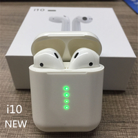 Wearpai i10 TWS bluetooth/earphone Mini Wireless Touch control Earphone Earbuds Built in Mic Charging box with lighting port