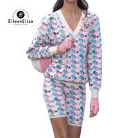 Женский комплект для подиума с длинным рукавом свитер и брюки костюм 2019 Весна Новый элегантный комплект из 2 предметов для женщин